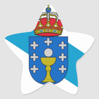 Galicia (Spain) Flag Star Sticker