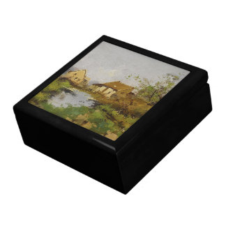 Galien France Countryside Pond Cottage Gift Box
