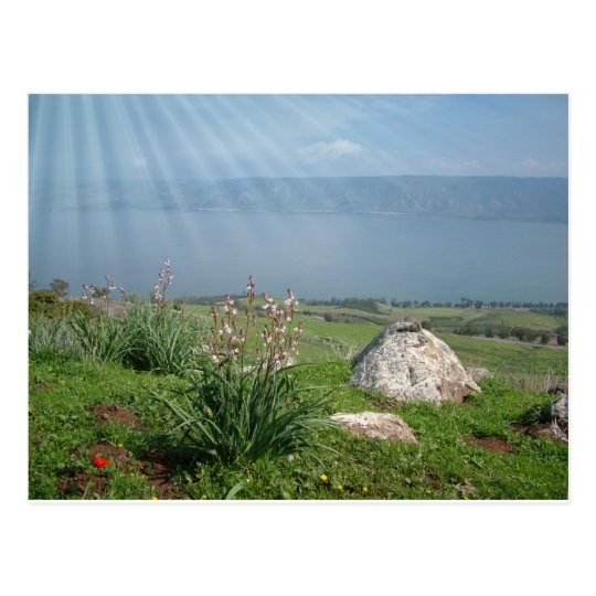 Galilee Sea Panoramic View Postcard