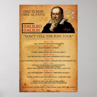 Galileo 1632 Heresy Tour Poster