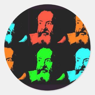 Galileo Collage Classic Round Sticker