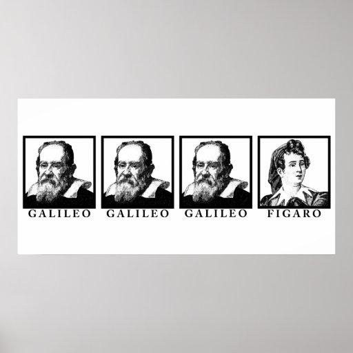Galileo Figaro BW Posters