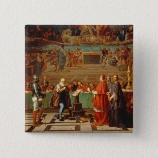 Galileo Galilei (1564-1642) before members of the 15 Cm Square Badge