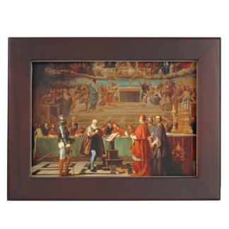 Galileo Galilei (1564-1642) before members of the Keepsake Box