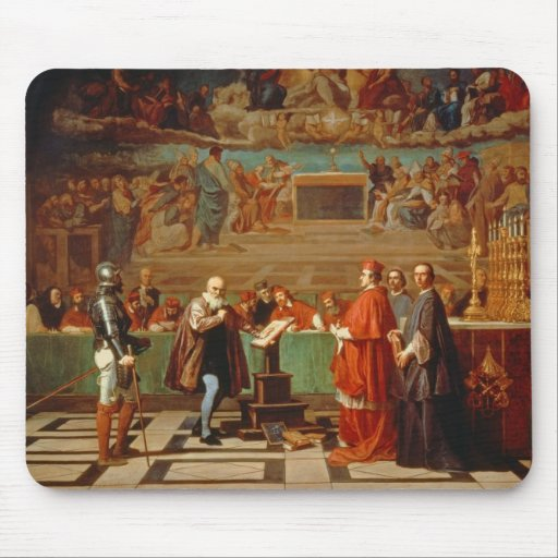 Galileo Galilei (1564-1642) before members of the Mouse Pad