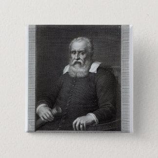 Galileo Galilei 15 Cm Square Badge