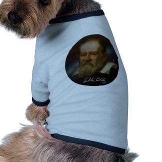 Galileo Galilei Bust Ringer Dog Shirt