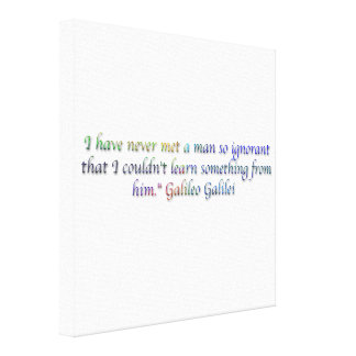 Galileo Galilei quote Stretched Canvas Prints