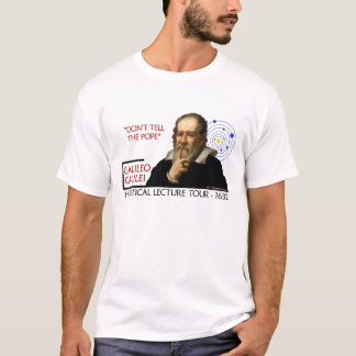 Galileo Heretical Lecture Tour (Men's Light) T-Shirt