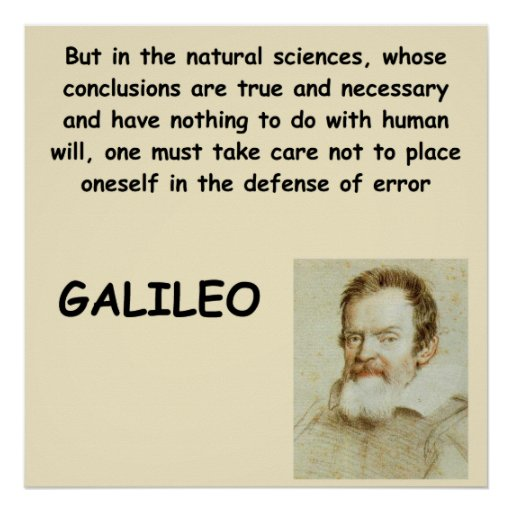 Galileo quote posters