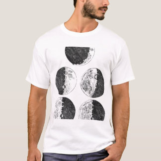 Galileo's drawings of the phases of the moon T-Shirt