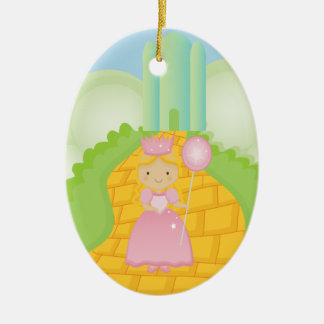 Galinda on Yellow Brick Road Christmas Ornament