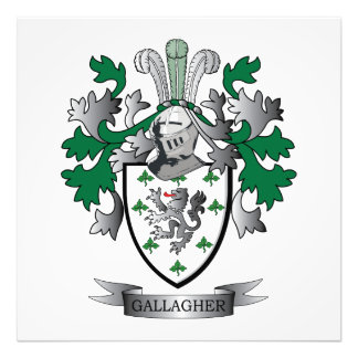 Gallagher Coat of Arms Photo Art