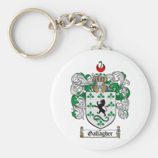 GALLAGHER FAMILY CREST -  GALLAGHER COAT OF ARMS KEY RING