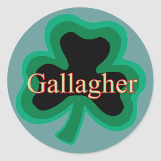 Gallagher Family Round Sticker