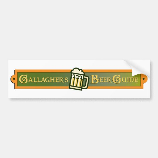 Gallagher's Beer Guide Bumper Sticker