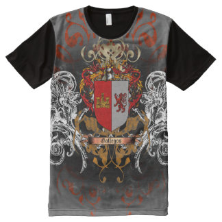 Gallegos Coat of Arms All-Over Print T-Shirt