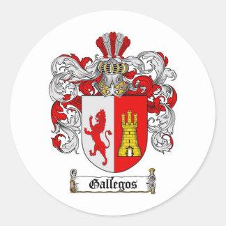 GALLEGOS FAMILY CREST -  GALLEGOS COAT OF ARMS STICKER