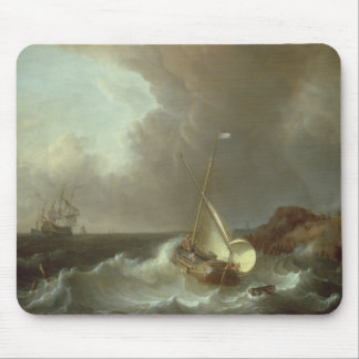Galleon in Stormy Seas Mouse Pad