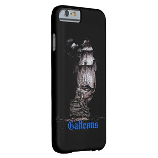 Galleon Pen & Ink Drawing iPhone 6 case on Black