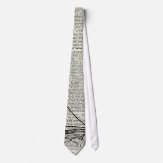 Galleon Ship Over Dictionary Page Tie