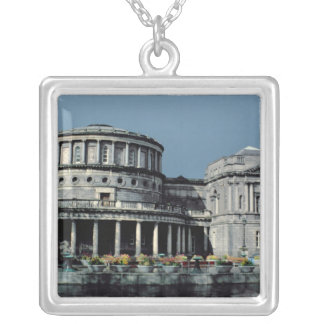 Gallery Exterior Silver Plated Necklace