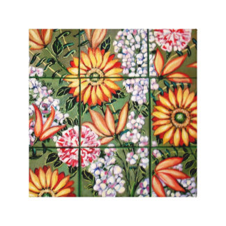 Gallery Wrap Canvas  Floral Crazy Daisies