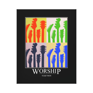 Gallery Wrapped Canvas Worship Together Guitar Art