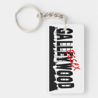 Galleywood Essex Keyring Single-Sided Rectangular Acrylic Key Ring