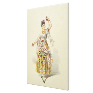 Galli Marie in the role of Carmen Canvas Print
