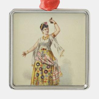 Galli Marie in the role of Carmen Silver-Colored Square Decoration