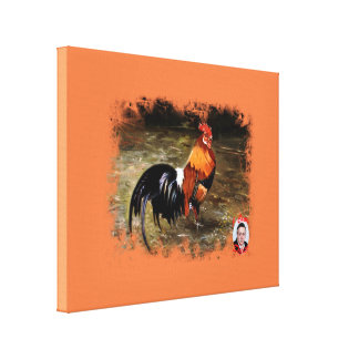 Gallic rooster//Rooster Canvas Print