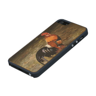 Gallic rooster//Rooster Wood iPhone SE/5/5s Case