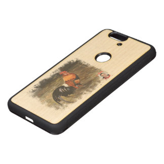 Gallic rooster//Rooster Wood Nexus 6P Case