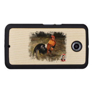 Gallic rooster//Rooster Wood Phone Case