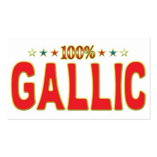 Gallic Star Tag Pack Of Standard Business Cards