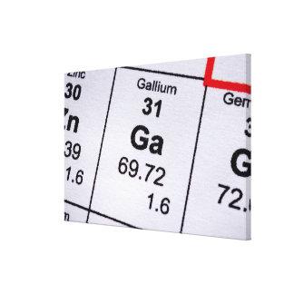 Gallium molecular formula canvas print
