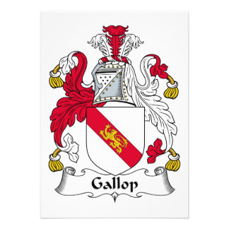 Gallop Family Crest Invitation