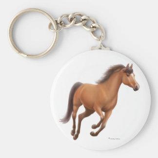 Galloping Bay Horse Keychain