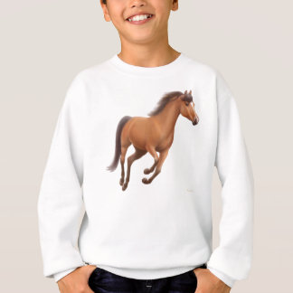 Galloping Bay Horse Kids Sweatshirt