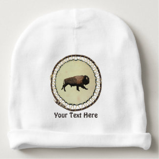 Galloping Bison Baby Beanie