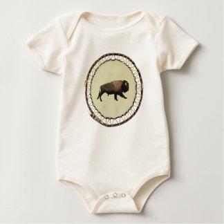 Galloping Bison Baby Bodysuit