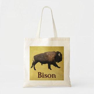 Galloping Bison Budget Tote Bag