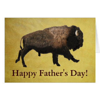 Galloping Bison Father's Day Greeting Card