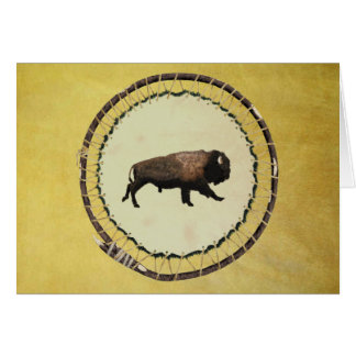 Galloping Bison Greeting Card