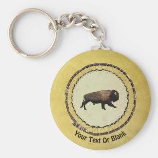 Galloping Bison Key Ring