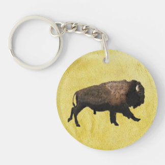 Galloping Bison Acrylic Key Chains