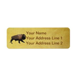 Galloping Bison Return Address Label