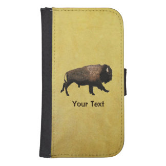 Galloping Bison Samsung S4 Wallet Case