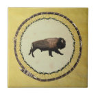 Galloping Bison Tile